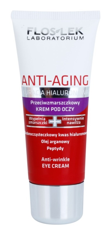 FlosLek Laboratorium Anti-Aging Hyaluronic Therapy Regenerating Eye Cream With Smoothing Effect