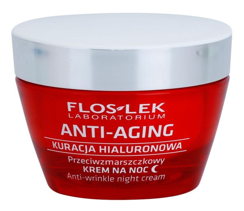 FlosLek Laboratorium Anti-Aging Hyaluronic Therapy creme hidratante de noite com efeito antirrugas