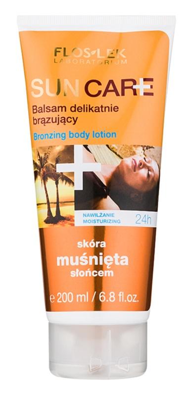 FlosLek Laboratorium Sun Care молочко-автозагар для тіла