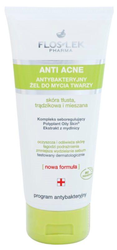 FlosLek Pharma Anti Acne Antibacterial Cleansing Gel Paraben-Free