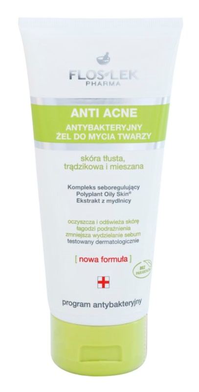 FlosLek Pharma Anti Acne Cleansing Gel For Oily Acne - Prone Skin