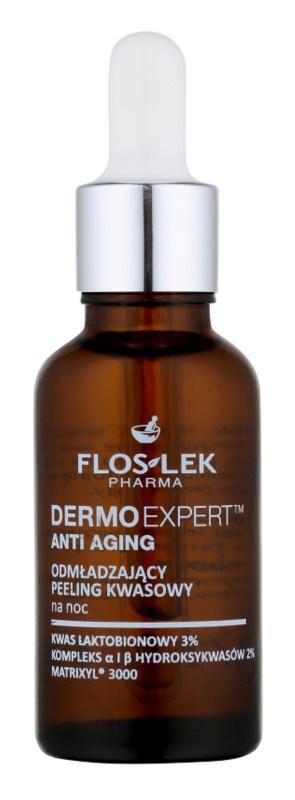 FlosLek Pharma DermoExpert Acid Peel Rejuvenating Night Treatment with Exfoliating Effect