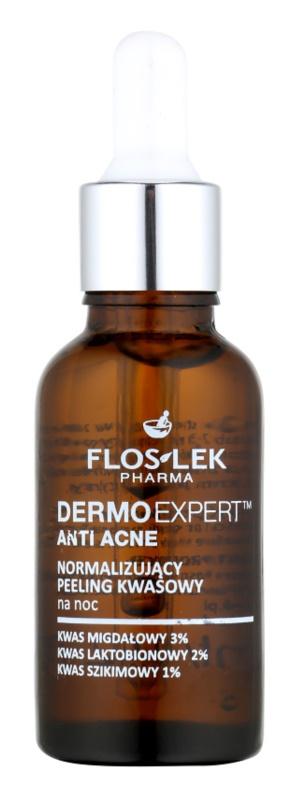 FlosLek Pharma DermoExpert Acid Peel soin de nuit normalisant pour peaux à imperfections