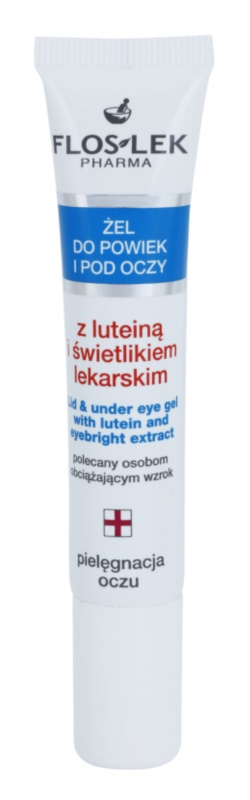 FlosLek Pharma Eye Care Eye Gel with Lutein and Eyebright