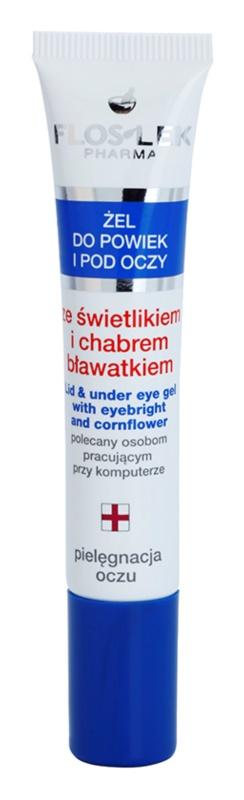 FlosLek Pharma Eye Care gel contour des yeux à l'euphraise et bleuet