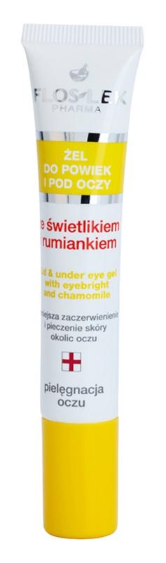 FlosLek Pharma Eye Care Gel für den Augenbereich mit Gemeinem Augentrost und Kamille