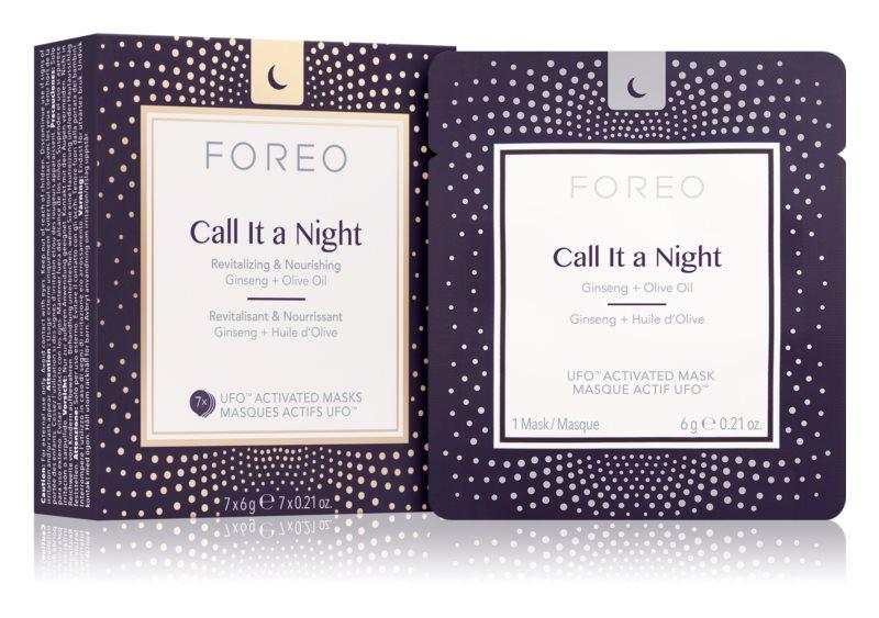 FOREO UFO™ Call It a Night nočná revitalizačná maska pre obnovu pleti s vyživujúcim účinkom