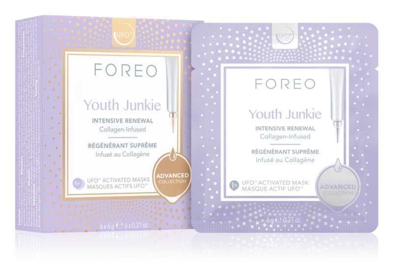 FOREO UFO™ Youth Junkie intenzivně vyživující maska s protivráskovým účinkem