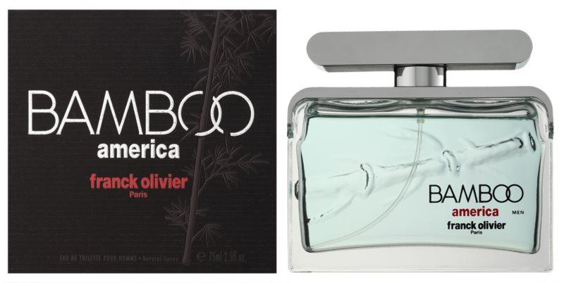 Franck Olivier Bamboo America eau de toilette pentru barbati 75 ml