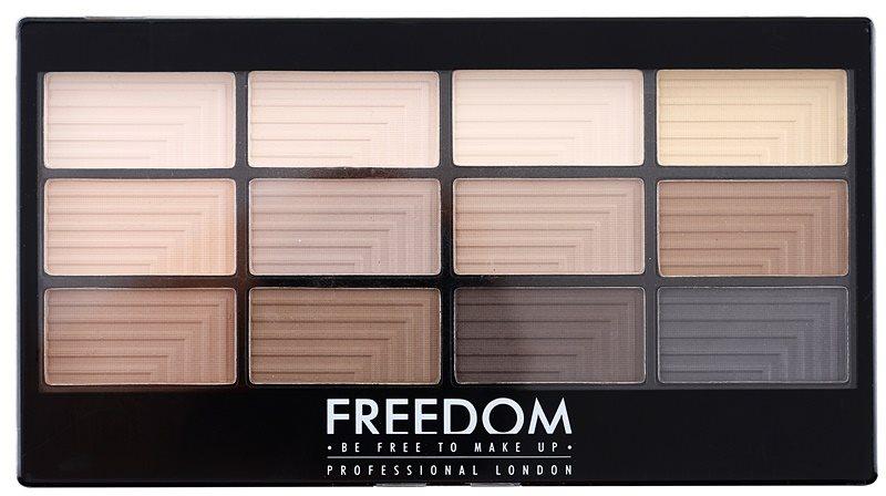Freedom Pro 12 Audacious Mattes paleta farduri de ochi cu aplicator