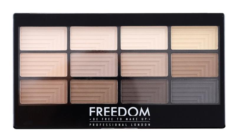 Freedom Pro 12 Audacious Mattes Palette mit Lidschatten mit einem  Applikator
