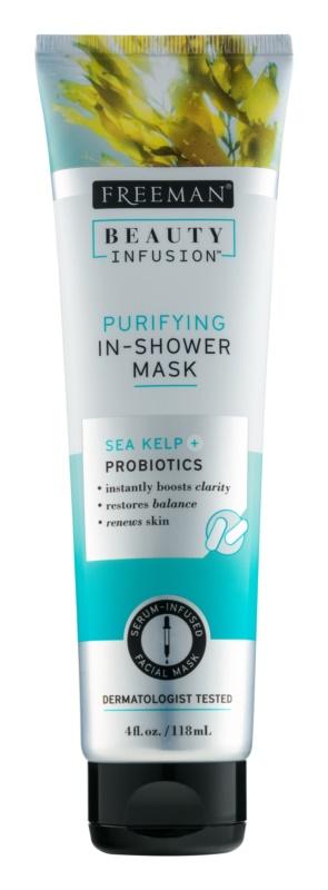 Freeman Beauty Infusion Sea Kelp + Probiotics čisticí maska do sprchy