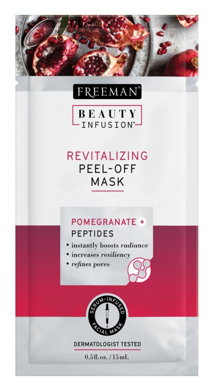 Freeman Beauty Infusion Pomegranate + Peptides revitalizacijska luščilna maska za obraz