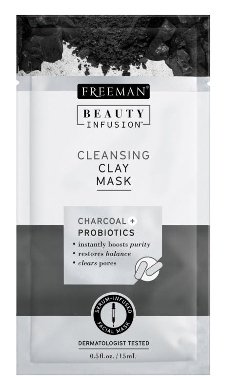 Freeman Beauty Infusion Charcoal + Probiotics čistiaca ílová pleťová maska