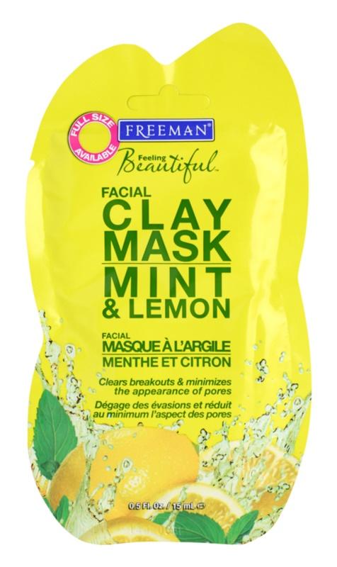 Freeman Feeling Beautiful Gesichtsmaske mit Kaolin für fettige und problematische Haut