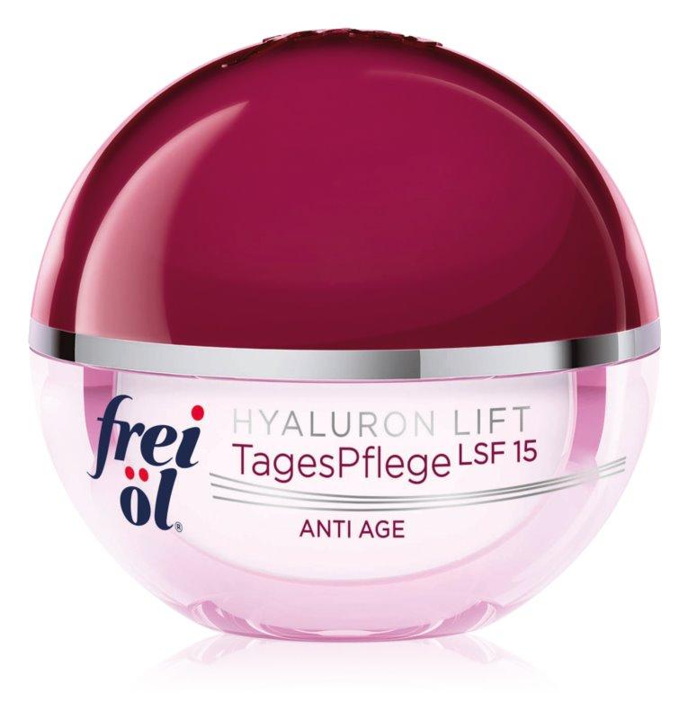 frei öl Anti Age Hyaluron Lift dnevna krema za učvrstitev kože in proti gubam SPF 15