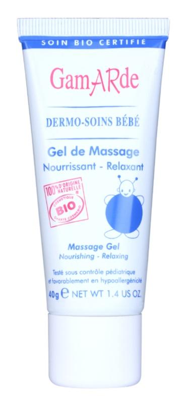 Gamarde Bébé Gel de masaj relaxant și nutritiv pentru pielea bebelusului
