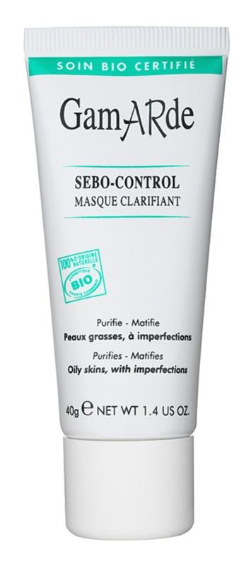 Gamarde Sebo-Control čistiaca maska pre redukciu kožného mazu a minimalizáciu pórov