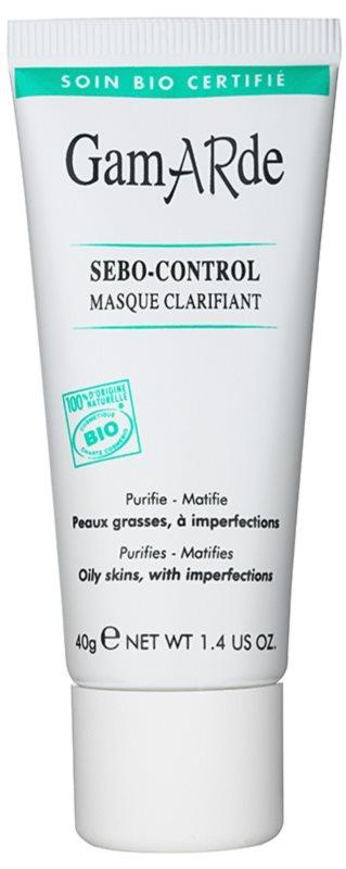Gamarde Sebo-Control mascarilla limpiadora para reducir el exceso de sebo y suavizar poros