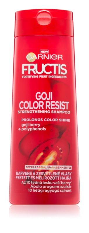 Garnier Fructis Goji Color Resist šampon za okrepitev las za barvane lase