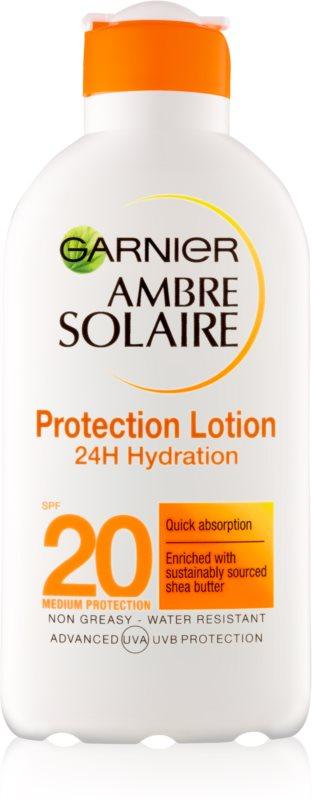 Garnier Ambre Solaire зволожуюче молочко для засмаги SPF 20