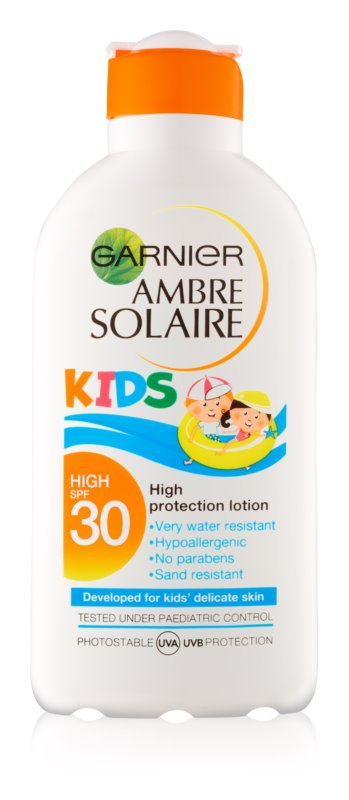 Garnier Ambre Solaire Kids schützende Hautmilch für Kinder SPF 30