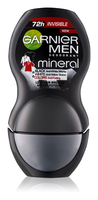 Garnier Men Mineral Neutralizer antiperspirant roll-on proti bielym škvrnám