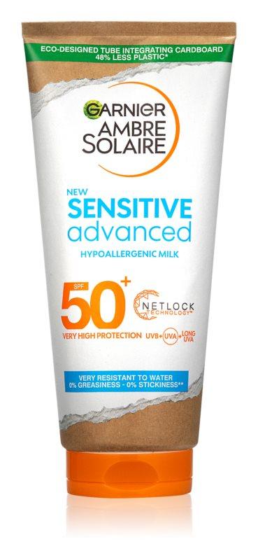 Garnier Ambre Solaire Sensitive Advanced mléko na opalování SPF 50+