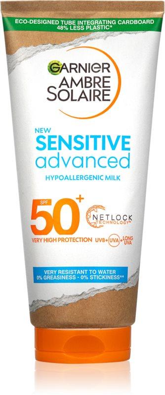 Garnier Ambre Solaire Sensitive Advanced mlieko na opaľovanie SPF 50+