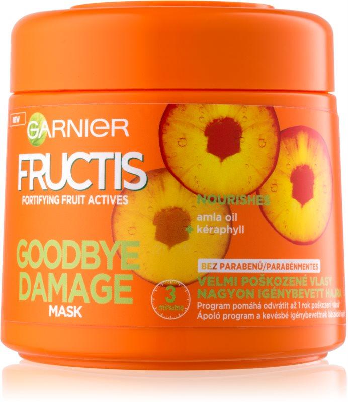 Garnier Fructis Damage Repair máscara fortificante para cabelo muito danificado