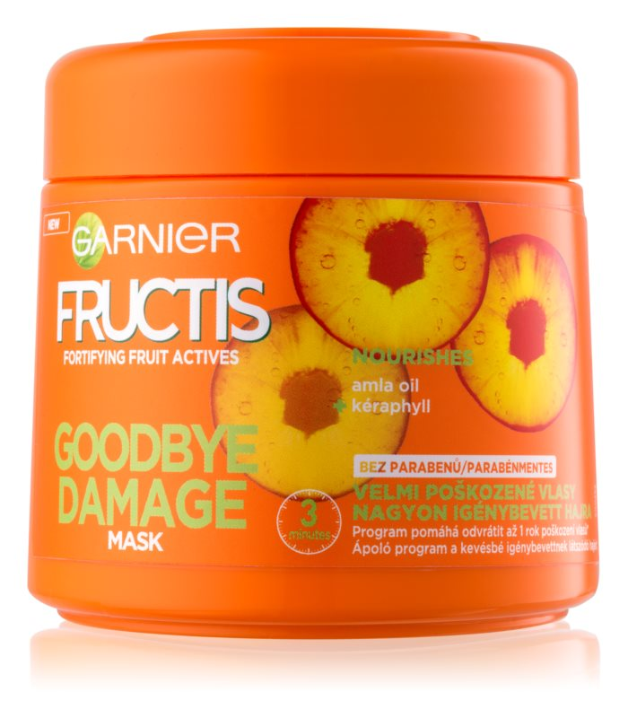 garnier fructis damage repair masque fortifiant pour cheveux tr s ab m s. Black Bedroom Furniture Sets. Home Design Ideas