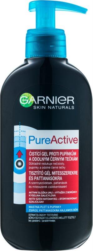 Garnier Pure Active gel nettoyant anti-points noirs