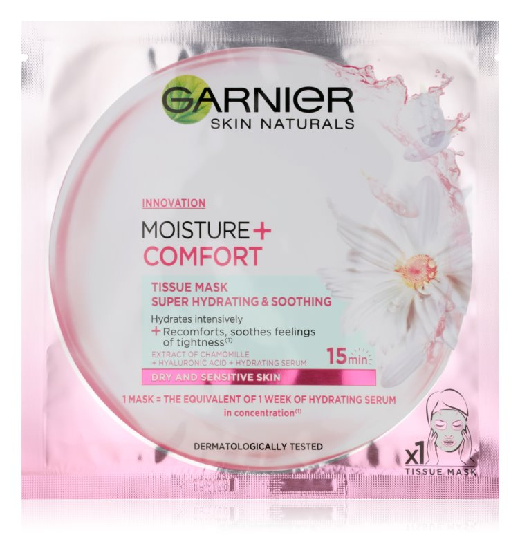 Garnier Skin Naturals Moisture+Comfort Super Hydrating Soothing Sheet Mask for Dry and Sensitive Skin
