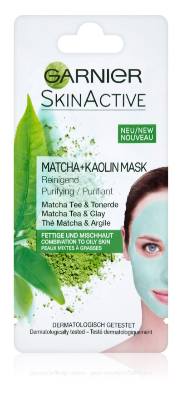 Garnier Skin Active maska za obraz iz kaolina za mastno in mešano kožo