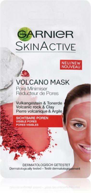 Garnier Skin Active topla maska za obraz z vulkanskimi minerali in ilovico, ki zateguje pore