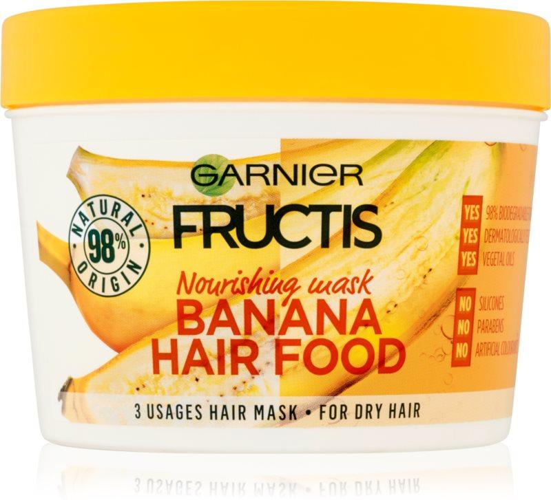 garnier fructis banana hair food masque nourrissant pour cheveux secs. Black Bedroom Furniture Sets. Home Design Ideas