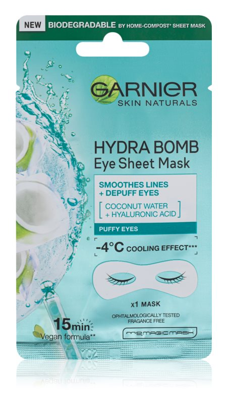 Garnier Skin Naturals Moisture+ Smoothness gladilna maska za predel okoli oči