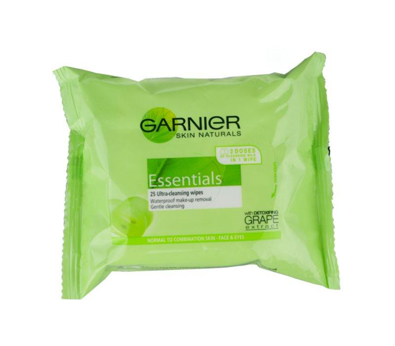 Garnier Essentials lingettes démaquillantes pour peaux normales à mixtes