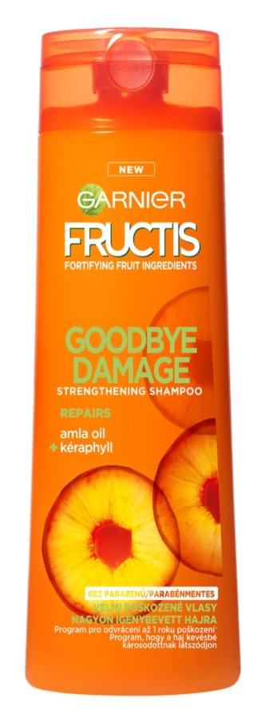 Garnier Fructis Goodbye Damage champô reforçador para cabelo danificado