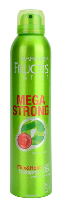 Garnier Fructis Style Mega Strong lak na vlasy s výťažkom z bambusu
