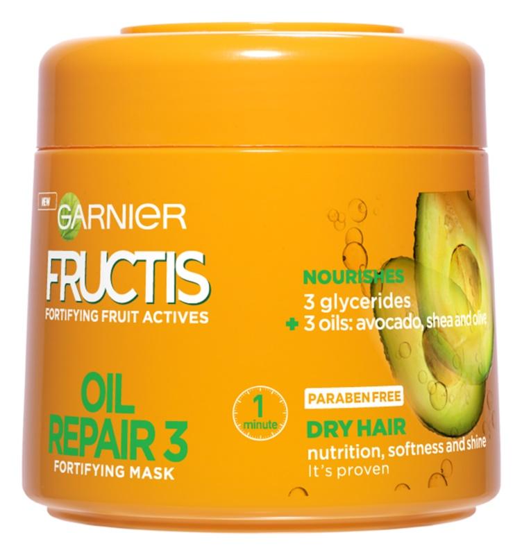 Garnier Fructis Oil Repair 3 Versterkende Masker  voor Droog en Beschadigd Haar