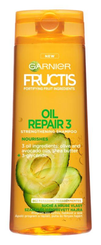 Garnier Fructis Oil Repair 3 šampon za okrepitev las za suhe in poškodovane lase