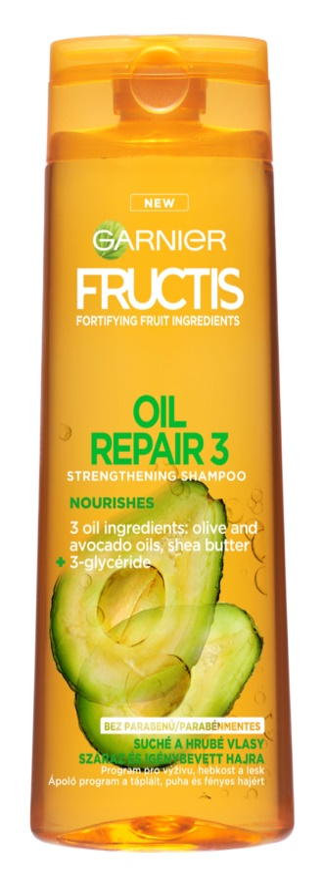 Garnier Fructis Oil Repair 3 зміцнюючий шампунь для сухого або пошкодженого волосся