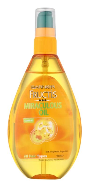 Garnier Fructis Miraculous Oil óleo nutritivo  para todos os tipos de cabelos