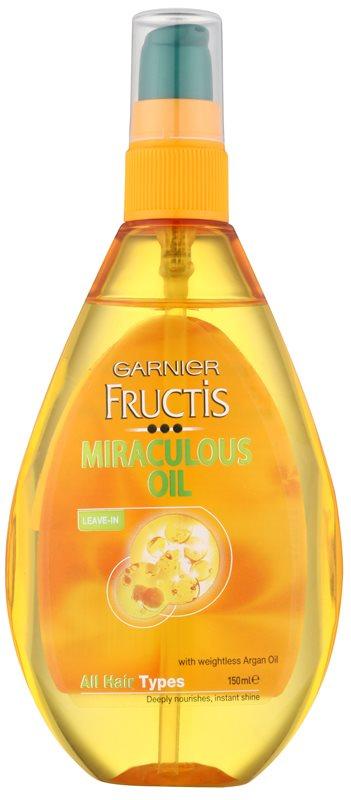 Garnier Fructis Miraculous Oil vyživující olej pro všechny typy vlasů