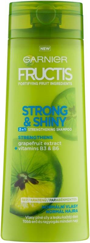 Garnier Fructis Strong & Shiny 2in1 champô reforçador para cabelo normal