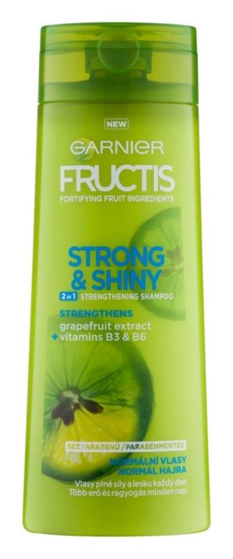 Garnier Fructis Strong & Shiny 2in1 sampon fortifiant pentru par normal
