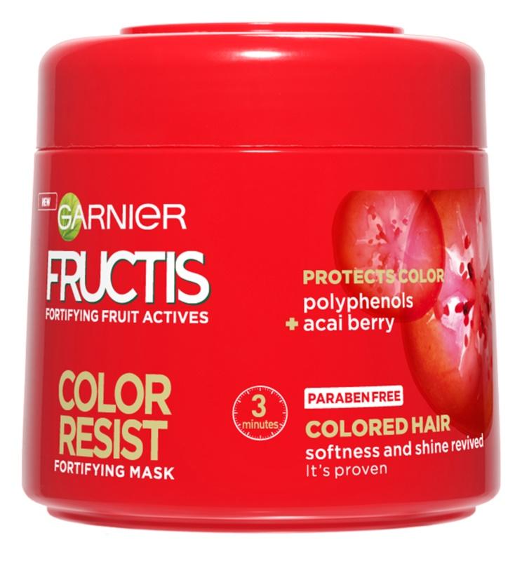 Garnier Fructis Color Resist tápláló maszk a szín védelméért