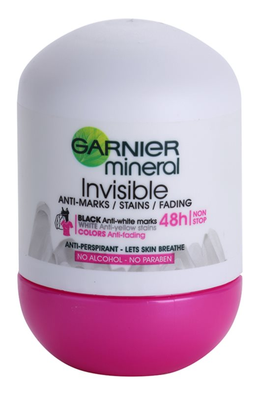 Garnier Mineral Invisible antiperspirant roll-on pentru femei
