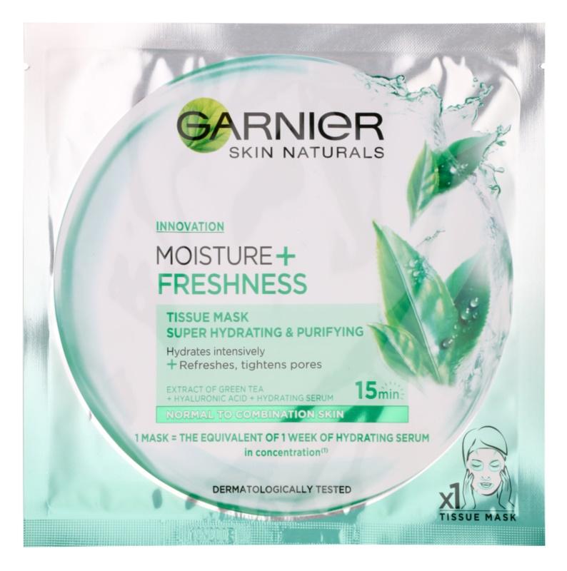 Garnier Skin Naturals Moisture+Freshness máscara têxtil para uma hidratação e limpeza perfeitas para pele normal a mista